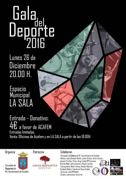 El 26 de diciembre se celebrará en Caudete la Gala del Deporte, Caudete Digital - Noticias y actualidad de Caudete (Albacete)