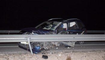 Nuevo accidente de tráfico en la N-344, a la altura de la variante de Yecla