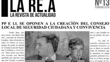 Ganemos Caudete ha publicado el número 13 de su revista La REA