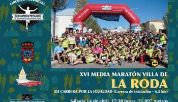 Seis corredores de Caudete disputaron la Media Maratón de La Roda el pasado fin de semana