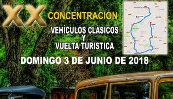 Organizada en Villena la XX Concentración de Vehículos Clásicos y Vuelta Turística