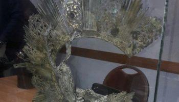 Descubren una Corona de la Virgen de Gracia en un falso techo del Santuario
