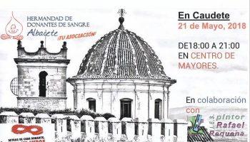 Mañana lunes tendrá lugar una donación de sangre en el Centro de Mayores de Caudete