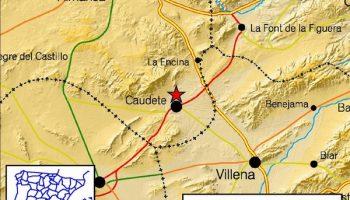 A las 3:51 horas se ha producido en Caudete un terremoto de magnitud 2.0 en la Escala de Ritcher