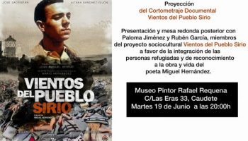 Mañana se proyectará el cortometraje documental 'Vientos del Pueblo Sirio'