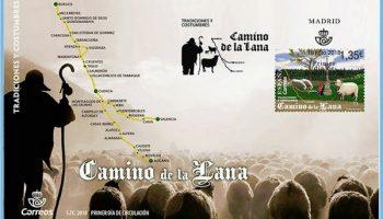 Correos ha emitido un sobre, matasellos y sello alusivos al Camino de la Lana