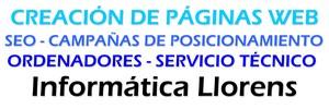 Informática Llorens - Creación de páginas web - SEO