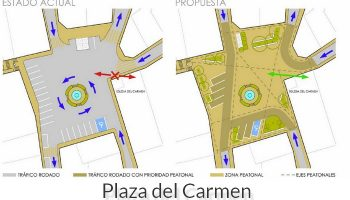 La caudetana Leticia Requena, junto a Jaime Giner, ganadores del Concurso de Ideas de la Plaza del Carmen