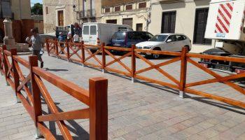 Terminada la nueva valla que se instalará en la representación de los Episodios Caudetanos