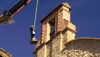 La campana de la ermita de San Antón ya está colocada tras su restauración