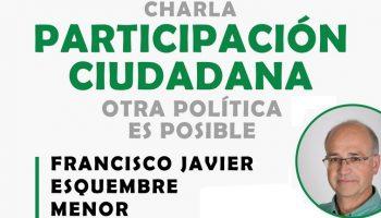 El Alcalde de Villena, Francisco Javier Esquembre, ofrecerá el viernes una charla en la sede de Ganemos Caudete