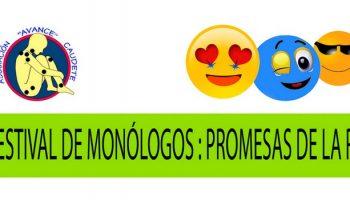 La Asociación AVANCE recuerda que ya es posible inscribirse en el IV Festival de Monólogos: Promesas de la Risa