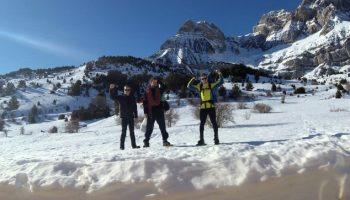 Tres caudetanos abren huella en la Gran Diagonal Peña Telera, situada en los Pirineos