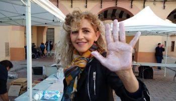 El pasado sábado Caudete empezó la realización del Mural Contra la Violencia de Género