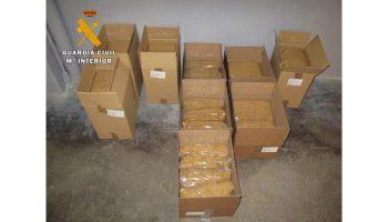 La Guardia Civil de Caudete interviene 40 kilos de picadura de tabaco ilegal, valorados en 6.000 euros