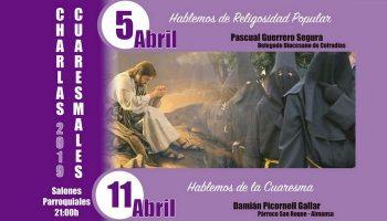 La Cuaresma será el tema de dos charlas que se impartirán los días 5 y 11 de abril
