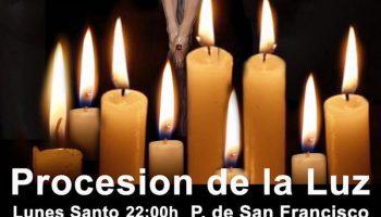 Esta noche tendrá lugar la Procesión de la Luz desde San Francisco