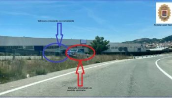 Un detenido por conducir en sentido contrario en la entrada a Yecla desde Caudete