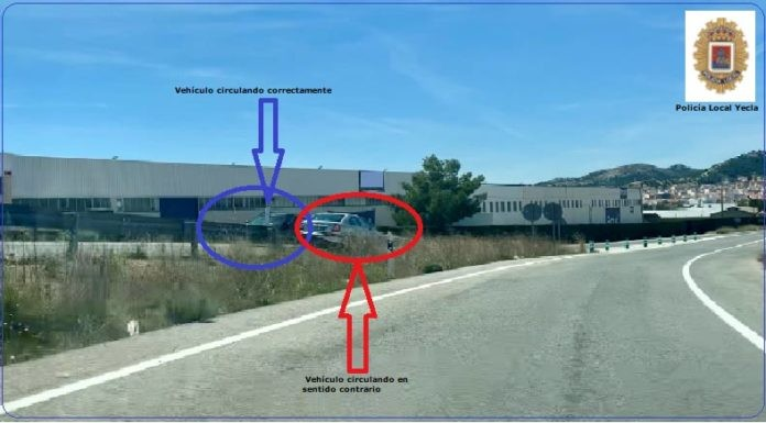 Un detenido por conducir en sentido contrario en la entrada a Yecla desde Caudete, Caudete Digital - Noticias y actualidad de Caudete (Albacete)