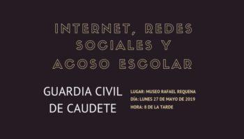 La Guardia Civil ofrecerá una charla titulada Internet, Redes Sociales y Acoso Escolar