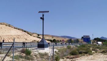 Instalado un control de velocidad en tramo en el término municipal de Caudete