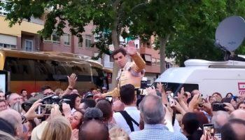 Rubén Pinar salió por la Puerta Grande en la corrida de ASPRONA en Albacete