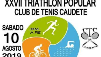 El 10 de agosto se celebrará el XXVII Triatlón Popular Club de Tenis Caudete