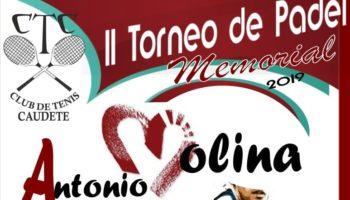 Organizado el II Torneo de Pádel 'Memorial Antonio Molina' en el Club de Tenis Caudete