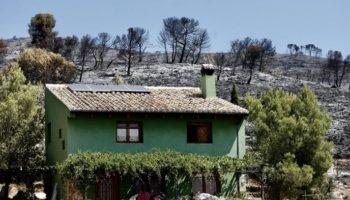 Estabilizado el incendio de Beneixama, que podría haber sido provocado