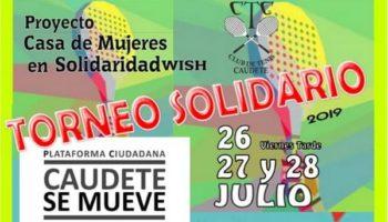 Torneo Solidario de Pádel en el Club de Tenis a favor de Caudete se Mueve
