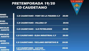 El C.D. Caudetano realizará una intensa pretemporada, con la Presentación Oficial del Equipo el 30 de agosto