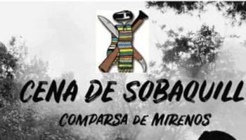 El sábado 31 de agosto se celebrará la Cena de Sobaquillo de la Comparsa de Mirenos
