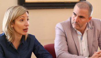 La diputada nacional de Cs, María Dolores Arteaga, ha visitado Caudete y pide trabajar por la declaración de 'zona catastrófica'