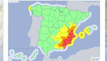 Siguen las alertas por lluvias en el este peninsular