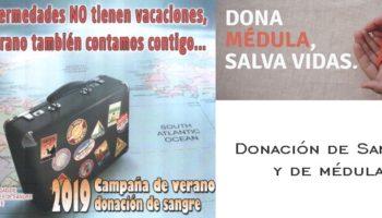 El 23 de septiembre tendrá lugar una donación de médula y otra de sangre en Caudete