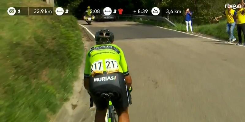 Héctor Sáez se queda a un paso de poder ganar la etapa de hoy de la Vuelta a España, Caudete Digital - Noticias y actualidad de Caudete (Albacete)