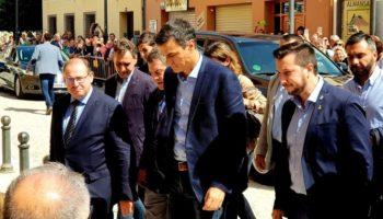 El alcalde de Caudete, Moisés López, se ha reunido esta mañana en Almansa con el Presidente del Gobierno en funciones, Pedro Sánchez