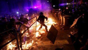 La violencia y el odio se adueñan de Cataluña