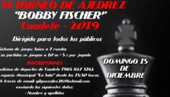 El Torneo de Ajedrez 'Bobby Fischer' se celebrará el domingo 15 de diciembre