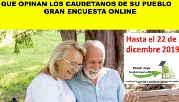 Impulso 2020 propone participar en una encuesta para conocer la opinión de los caudetanos respecto a su pueblo