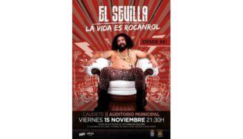 El viernes 15 de noviembre tendrá lugar un monólogo de 'El Sevilla' en el Auditorio Municipal