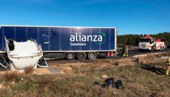 Un herido como consecuencia del accidente de un camión en los Altos de Yecla