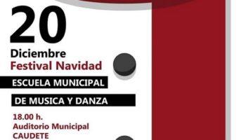 La Escuela Municipal de Música y Danza de Caudete celebrará su Festival de Navidad el 20 de diciembre