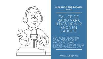 Se va a impartir en Caudete un Taller de Radio para niños