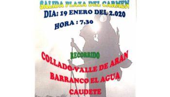 Los Andarines realizarán la Marcha 'El Collado - Valle de Arán - Barranco El Agua - Caudete' el próximo domingo