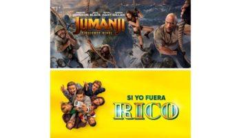El próximo fin de semana se proyectarán las películas 'Jumanji' y 'Si yo fuera rico' en el Auditorio Municipal