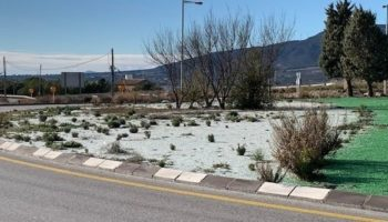 El PSOE de Caudete pide que se adecente la rotonda del Parque Tecnológico