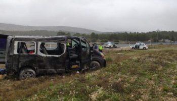 Un muerto y ocho heridos en un accidente ocurrido ayer en la N-344, entre Caudete y Yecla