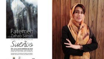 Mañana se abre al público la Exposición de Acuarelas 'Sueños', de la iraní Fatemeh Zahab Saniei