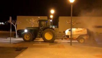Esta noche se volverán a desinfectar las calles de Caudete